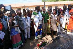 Chief Albert Madoda Zibi leading the celebration at amahlubi heritage  site