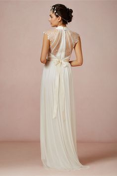 Laverne Gown in Bride Wedding Dresses at BHLDN- love the back of this dress!