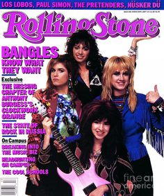 Rolling Stone Magazine March 1987 Issue Bangles Paul Simon The Pretenders Rock And Roll Bands, Rock Bands, The Bangles Band, Rolling Stone Magazine Cover, Michael Steele, Rollin Stones, Nostalgia, The Pretenders, Women Of Rock