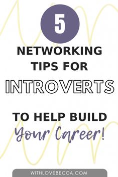 Networking Tips for Introverts: Overcoming the 5 Major Objections - With Love, Becca Business Networking, Business Tips, Job Interview Tips, Job Interviews, Interview Questions, Spin Instructor, Effective Resume, Extroverted Introvert, Infp