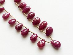 Ruby Beads Ruby Faceted Pear Beads Ruby Jewelry by gemsforjewels