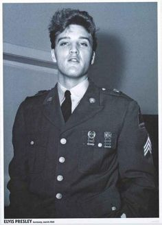 A great poster of Pvt Elvis Presley during his stint with the US Army's 3rd Armored Division in Germany in 1960! Ships fast. 24x33 inches. Check out the rest of