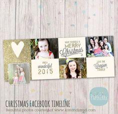 Christmas Facebook Timeline Template HC017 from Paper Lark Designs