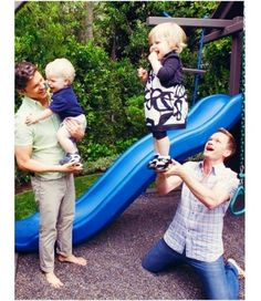 Ok. Neil Patrick Harris and David Burtka with their kids. What could be more adorable???