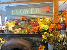 Don't you love our flower shop full of fall colors?