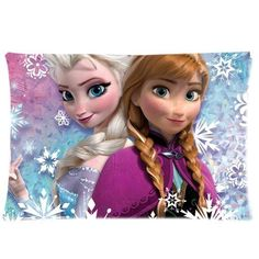 Kids' Pillowcases - Disney Movie 3D Cartoon Frozen sister princess Anna And Elsa Custom Zippered Pillow Cases 2030 inches one side -- Click image for more details.