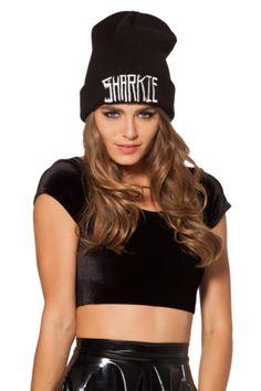 Sharkie Beanie - Black Milk Clothing