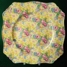 chintz plate totally, totally my favorite! Royal Winton I believe? I had some wonderful bowls in this. <3
