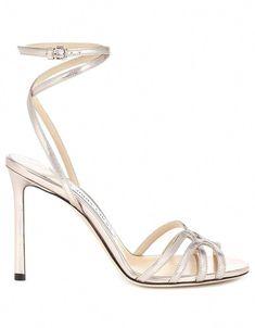 f3c63bfeddd JIMMY CHOO Mimi 100 metallic leather sandals · VERGLE  JimmyChoo Pencil  Dress