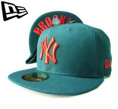 """【ニューエラ】【NEW ERA】59FIFTY NEW YORK YANKEES """"NY"""" ダークグリーンXレッド BROOKLYNアンダーバイザー【CAP】【newera】【ニューヨーク・ヤンキース】【帽子】【緑】【under visor】【赤】【白】【黒】【BLACK】【キャップ】【あす楽】【楽天市場】"""