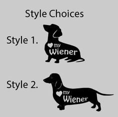 Love My Wiener Dog Vinyl Car Decal Dachshund Weiner Sticker, iPad, Computer, Wall Art / Heart My Wiener by rockpaperscissors24 on Etsy https://www.etsy.com/listing/252937983/love-my-wiener-dog-vinyl-car-decal