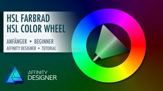 Affinity Designer – HSL Color Wheel In this Affinity Designer beginner tutorial I'll show you how to create HSL Color wheel in Affinity Designer 1.6.0.  We will use different shapes, the Fill Tool and the Transparency Tool. #madeinaffinity #tutorial #affinitydesigner