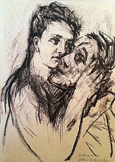 Alma Mahler and Oskar Kokoschka, 1913, Oskar Kokoschka