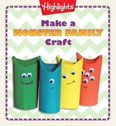 Make a Monster Family! #craft #kids #fall #Halloween
