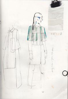 Fashion Sketchbook - fashion design development inspired by architecture & shadows - fashion sketch; fashion portfolio // Alexandra Baldwin