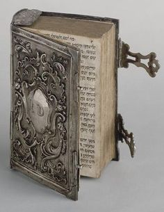 Prayer book ~ silver pierced book binding, Netherlands, ca. 1680