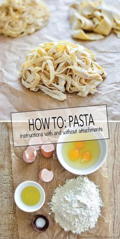 This recipe requires, at the very least, something to roll out the pasta. You may do this with stand mixer attachments, a hand pasta roller or by hand with a rolling pin. Please note that making pasta completely by hand will take longer. Food Network Recipes, Cooking Recipes, Cooking Tips, Cooking Quotes, Cooking Classes, Vegan Recipes, Yakisoba, Pasta Casera, Yummy Food