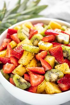 This winning combination of fruits drizzled with a lemon poppy seed dressing makes the best summer fruit salad you'll ever have! #summerfruitsaladrecipe #fruitsalad #salad