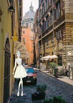 itlian street sketch 1