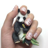 Milady Unicorns Cute zebra glitter nails