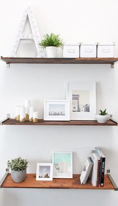 DIY Ikea Hack Distressed Wooden Shelves - Sugar & Cloth - DIY - Houston Blogger - Home Decor