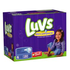 Subscribe for diaper delivery with Amazon.com: Luvs With Ultra Leakguards Size 4 Diapers 180 Count: Health & Personal Care