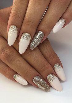 Glitter nail art designs for long nail ideas art design Lilac Nails With Glitter, Glitter Nail Art, Simple Acrylic Nails, Best Acrylic Nails, Nail Manicure, Nail Polish, 3d Nails, Pretty Nail Art, Dream Nails