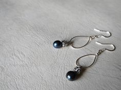 Fresh Water Pearls With Hoop, Simple, Silver Plated Earring Wires/ Clip On Earrings