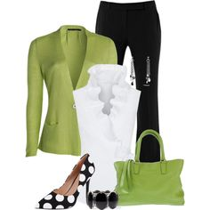 Hint of Lime by maggie478 on Polyvore featuring NIC+ZOE, Alexander McQueen, Charles by Charles David, Studio Moda and David Yurman