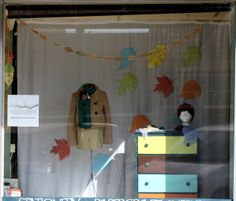 Fall Cherry Blossom Paperie Window Display