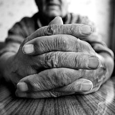 Aged hands