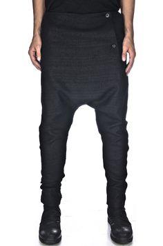 ALEKSANDR MANAMIS | Drop crotch texture trousers