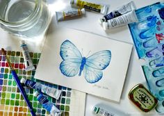 watercolor & butterflies