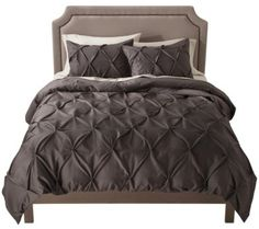 Threshold Pinched Pleat Duvet from Target; got this for my bedroom with plum colored sheets