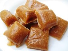 Microwave Caramels - fast and delicious.  Great for caramel apples too, just let the caramel set a few minutes before dipping to minimize the amount that slides down.