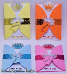 Prinzessin - Einladung - Set / 4Stk. von Foto&Kreativ-Design auf DaWanda.com