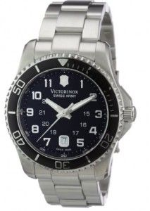 Victorinox Swiss Army Men's 241436 Maverick Stainless Steel Black Dial Watch | Citizen Watches For You And Her