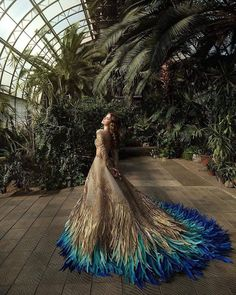 Haute Couture Golden Peacock Blue Hues Off the Shoulder Long   Etsy Evening Dresses, Prom Dresses, Wedding Dresses, Dresses Art, Reception Dresses, Beautiful Gowns, Beautiful Outfits, Fantasy Gowns, Dream Dress