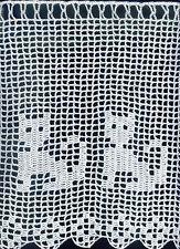 BISTROGARDINE SCHEIBENGARDINE HÄKELGARDINE KATZEN KATZE 50x28 cm, weiß, 100% Bw