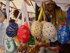Bratislava Easter Market. Hand decorated eggs.