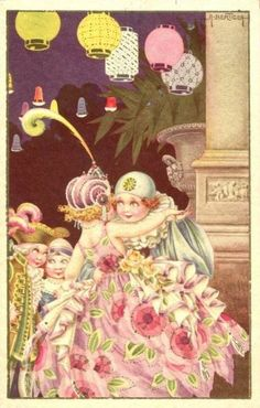 "Cartoline ""Vintage"" 7f79b7013eb05679ef5715bd3d97227a--commedia-pierrot"