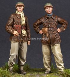 Awesome new WW2 French Tank crew in 1/35 scale