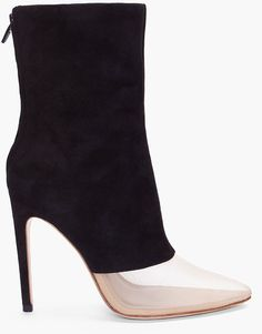 ALEXANDER WANG  Black Suede Cameron Ankle Boots