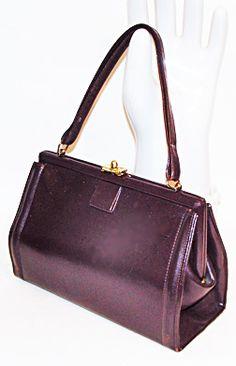 Vintage Rolfs Frame Bag Brown Leather