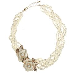 Gold Twisted Pearl Rose Necklace (€3,41) ❤ liked on Polyvore featuring jewelry, necklaces, accessories, jewelry necklaces, yellow gold necklace, rose necklace, gold pendant, rose gold jewelry and gold pearl pendant