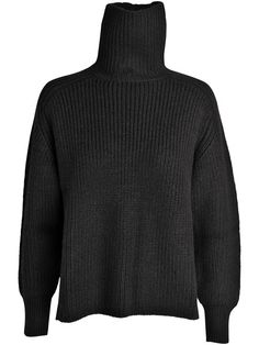 Laney alpaca rib rullekrave striksweater