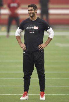 Jimmy Garoppolo (Posts tagged jimmy garoppolo) Black Men, Sporty, Football, Sexy, Stuff To Buy, Style, Fashion, Soccer, Swag