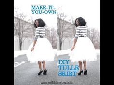 Make-It-Your-Own: Tulle Skirt (No-Sew Method) - YouTube