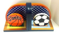 Wood Sports Bookends many designs to choose