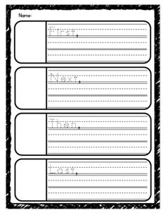 First, Next, Then, Last Graphic Organizer from Sunny Days in First Grade on TeachersNotebook.com -  (5 pages)  - First, Next, Then, Last Graphic Organizer